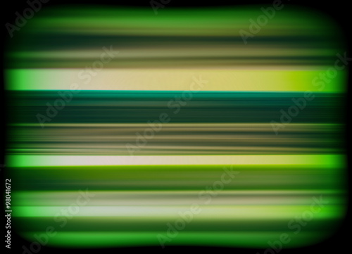 Horizontal vivid green interlaced tv static noise lines