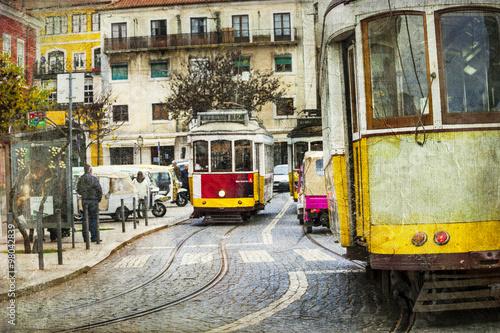 stary-tramwaj-w-lizbonie-zdjecie-w-stylu-retro