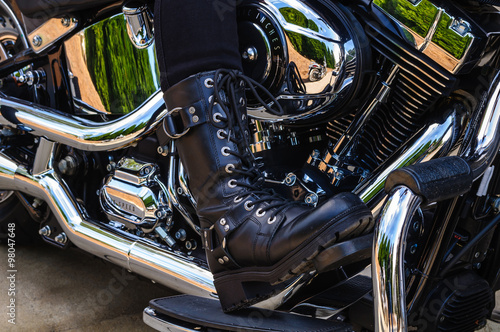 Motorcycle Riders Boot Poster