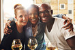 canvas print picture - Three ethnic best friends