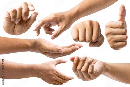 Fotografie, Obraz  Set of hand