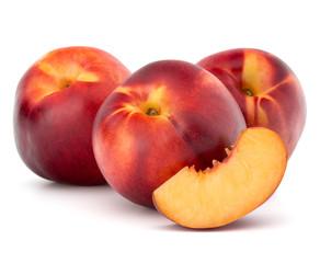 Fototapeta na wymiar Nectarine fruit isolated on white background close up