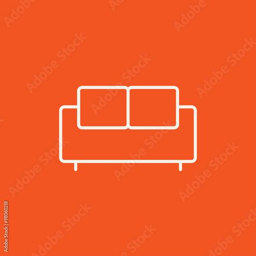 Sofa line icon. Fototapete