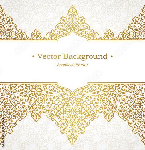 Fotografía  Vector ornate seamless border in Victorian style.