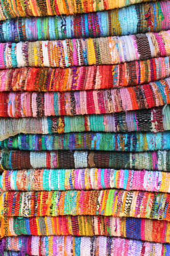 Tapis Indien Fibres Recycles Buy This Stock Photo And Explore