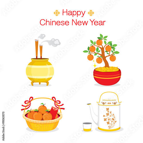 Fotografia, Obraz  Chinese New Year Objects, Gifts, Traditional Celebration, China, Happy Chinese N