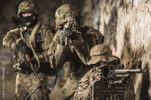 Photo  Marines during military maneuver