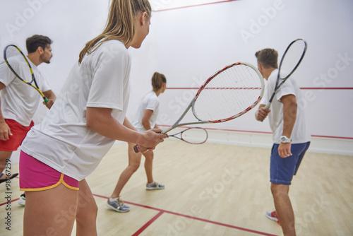 Fotografiet  Squash is our favorite leisure activity