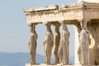 Caryatids statues at Acropolis in Greece.