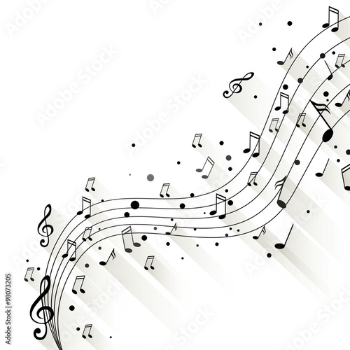 Vector Illustration of an Abstract Music Design #98073205