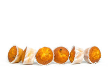 Muffins Isolated On White Back...