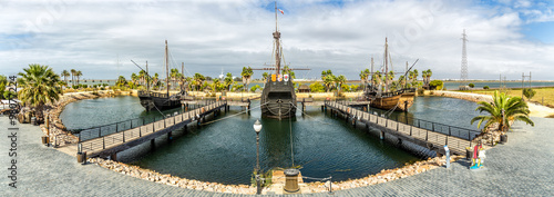 Statki Krzysztofa Kolumba, la rabida, Huelva w Hiszpani