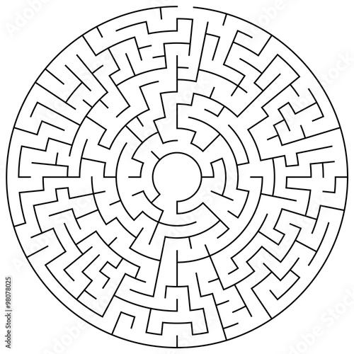 Maze Puzzle Illustration Buy This Stock Vector And Explore Similar