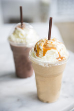 Ice Chocolate And Caramel Frap...