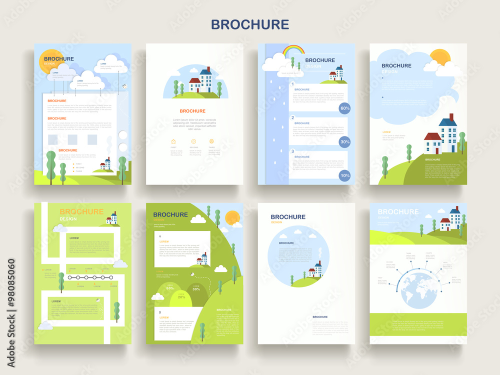 Fototapety, obrazy: adorable brochure template