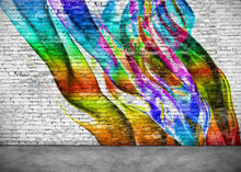 Abstract Colorful Graffiti On ...