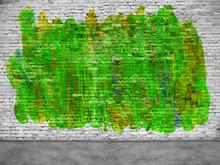 Abstract Green Graffiti