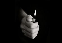 Lighter In Hand Monotone