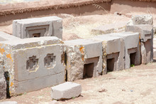 Puma Punku Stone Carvings - Bo...