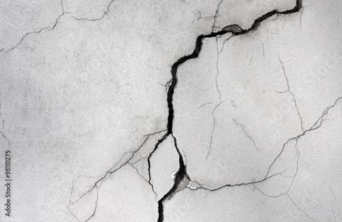 Fotografía  wall with a crack