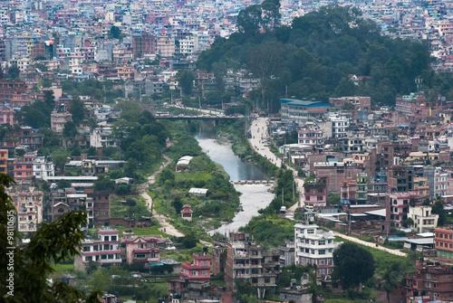 Fototapeta Przedmieścia Katmandu, panorama obraz