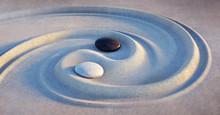 Yin Yang Motiv - Steine Im San...