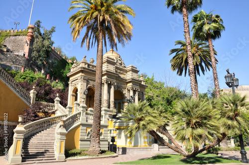 fototapeta na szkło Parque en el centro de Santiago de Chile.