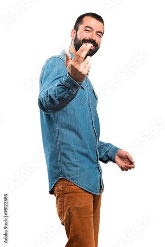 Photo  Man coming gesture