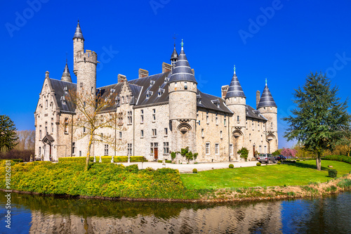 Poster Antwerp beautiful castles of Belgium -Marnix, Bornem