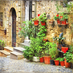 Fototapeta Uliczki charming old streets of Italian villages