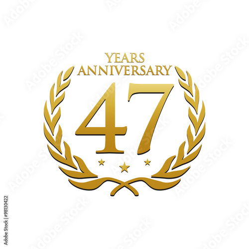 Poster  Simple Wreath Anniversary Gold Logo 47