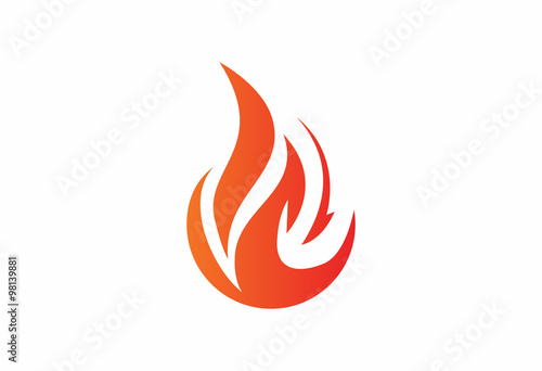flame fuel oil company symbol logo Canvas-taulu