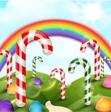 Candy Garden Background With R...