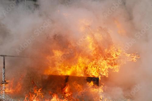 Valokuva  burning fire flame