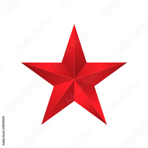 Obraz Red star sign - fototapety do salonu