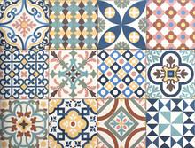 Colorful, Decorative Tile Patt...