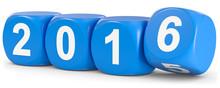 Würfel 2016 In Blau