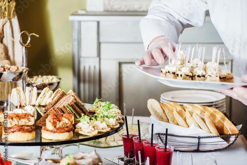 Fotografie, Obraz  catering banquet table