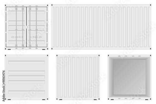 Shipping container. Canvas Print
