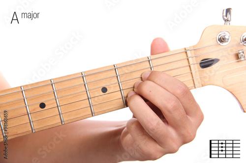 Photo A major guitar chord tutorial