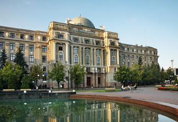 Fototapeta na wymiar Railway administration in Kharkov. Ukraine