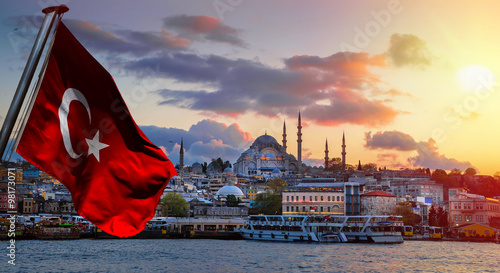 Poster Turquie Istanbul the capital of Turkey, eastern tourist city.