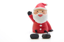 Santa Claus Doll On White Background , Christmas Ornament