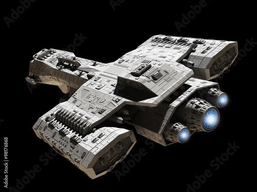 statek-kosmiczny-na-czarnym-tle-bezgwiezdnego-kosmosu