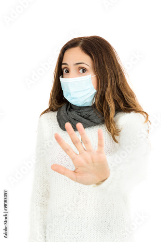 - With Sign Woman Stock Mask Buy Flu This Virus A Stop Giving