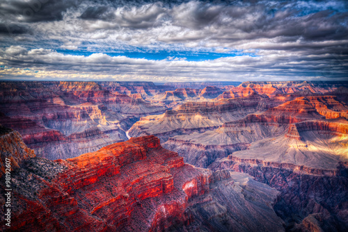 Fotobehang Canyon famous view of Grand Canyon , Arizona
