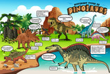 Fototapeta Dino - Different Types of Dinosaurs Infographic