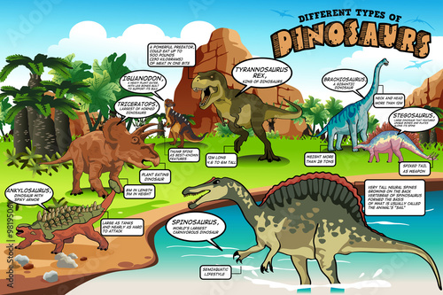 Photo Different Types of Dinosaurs Infographic