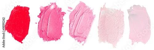 Fotografie, Obraz  Red lipstick on white