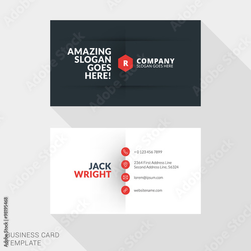 Creative business card print template flat design vector creative business card print template flat design vector illustration stationery design reheart Image collections